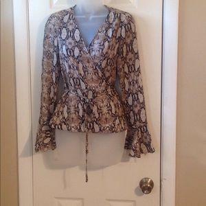 Hyfve snake print long sleeve blouse Sz: S